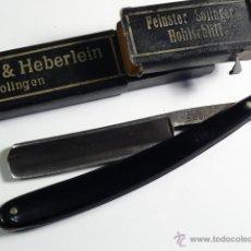 Antigüedades: NAVAJA AFEITAR SCHWARZ & HEBERLEIN FEINSTER SOLINGEN KASUMA. Lote 52537900