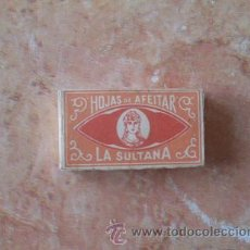 Antigüedades: CAJA DE HOJAS DE AFEITAR LA SULTANA,10 UNID.,MUY BUEN ESTADO. Lote 52542332