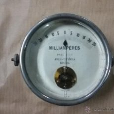 Antigüedades: AMPERÍMETRO ANTIGUO MILIAMPERIOS VINTAGE. Lote 52567045