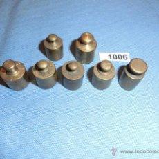 Antigüedades: REF- 1006 JUEGO DE PESAS EN BRONCE 7UD X 20GR. Lote 52576153