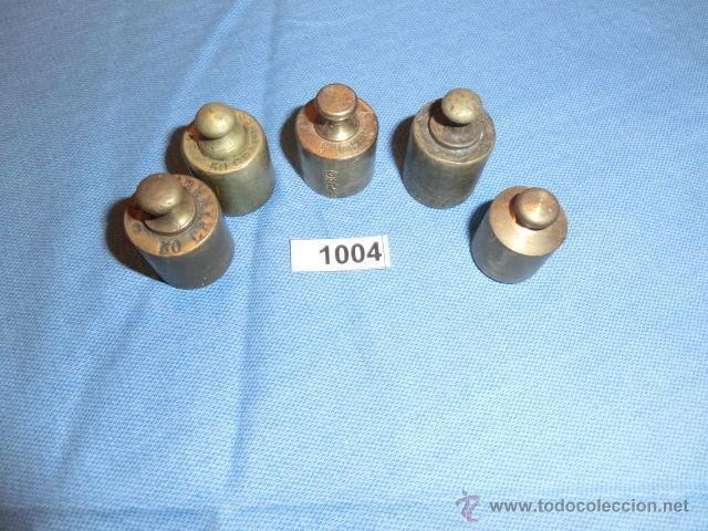 REF- 1004 JUEGO DE PESAS EN BRONCE 5UD (Antigüedades - Técnicas - Medidas de Peso Antiguas - Otras)