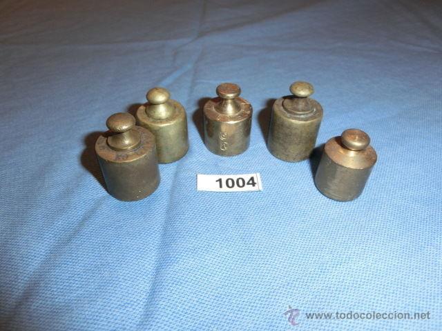 Antigüedades: REF- 1004 JUEGO DE PESAS EN BRONCE 5ud - Foto 2 - 52576325
