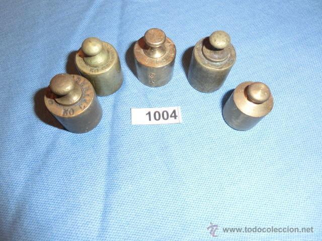 Antigüedades: REF- 1004 JUEGO DE PESAS EN BRONCE 5ud - Foto 5 - 52576325