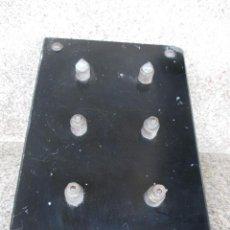 Antigüedades: ANTIGUA PLANCHA PIZARRA DE CUADRO ELECTRICO 30X20CM, 3KG, HERRAJES DE LATON + INFO. Lote 52593360