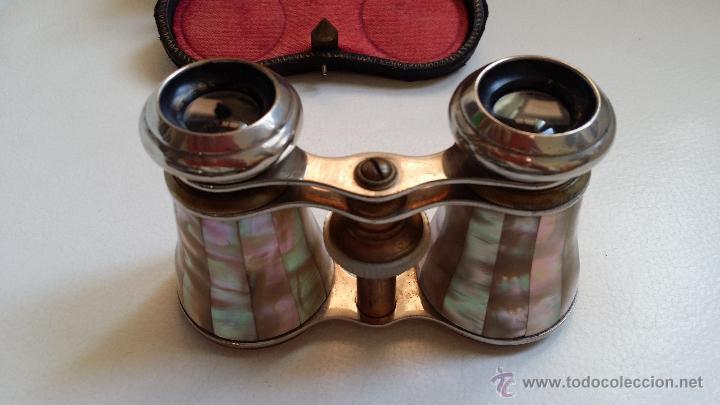 Antigüedades: Antiguos prismáticos o anteojos de teatro / nacar - Foto 7 - 52594048
