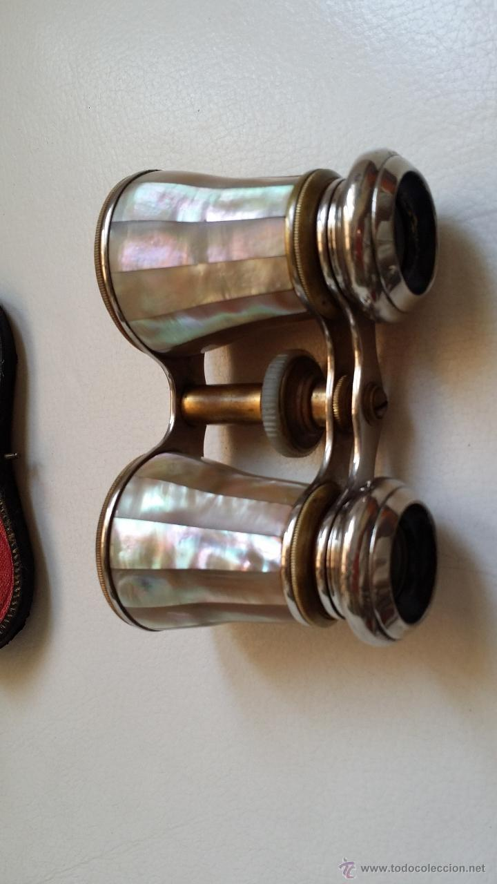 Antigüedades: Antiguos prismáticos o anteojos de teatro / nacar - Foto 9 - 52594048