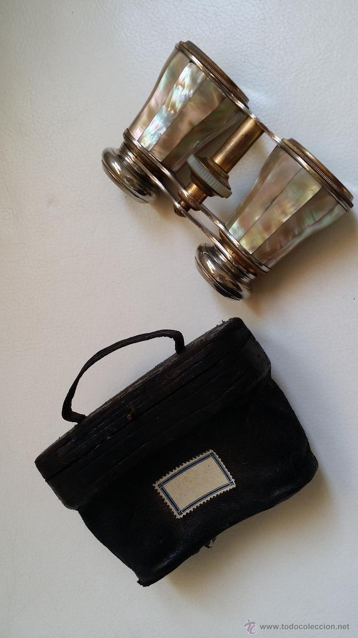 Antigüedades: Antiguos prismáticos o anteojos de teatro / nacar - Foto 12 - 52594048