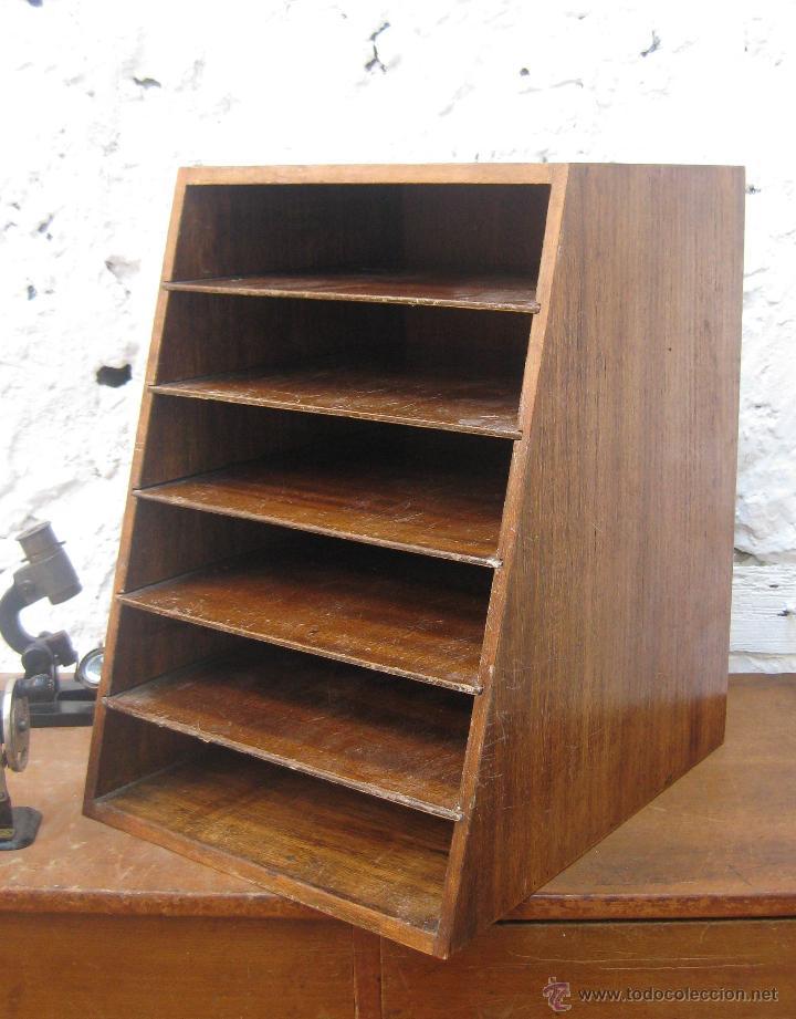 Precioso organizador cartas madera archivador a comprar - Archivadores de madera ...