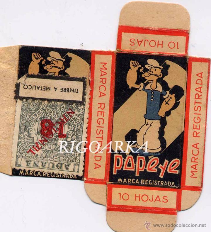 CAJA DE CUCHILLAS DE AFEITAR Y FUNDA DE CUCHILLA DE POPEYES (Antigüedades - Técnicas - Barbería - Varios Barbería Antiguas)