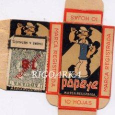 Antigüedades: CAJA DE CUCHILLAS DE AFEITAR Y FUNDA DE CUCHILLA DE POPEYES. Lote 52652550