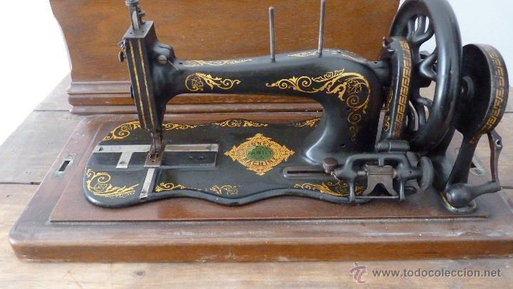 Antigüedades: MÁQUINA DE COSER JONES MACHINE.COMPLETA.EN MUY BUEN ESTADO - Foto 5 - 52763531