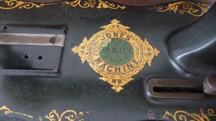 Antigüedades: MÁQUINA DE COSER JONES MACHINE.COMPLETA.EN MUY BUEN ESTADO - Foto 6 - 52763531