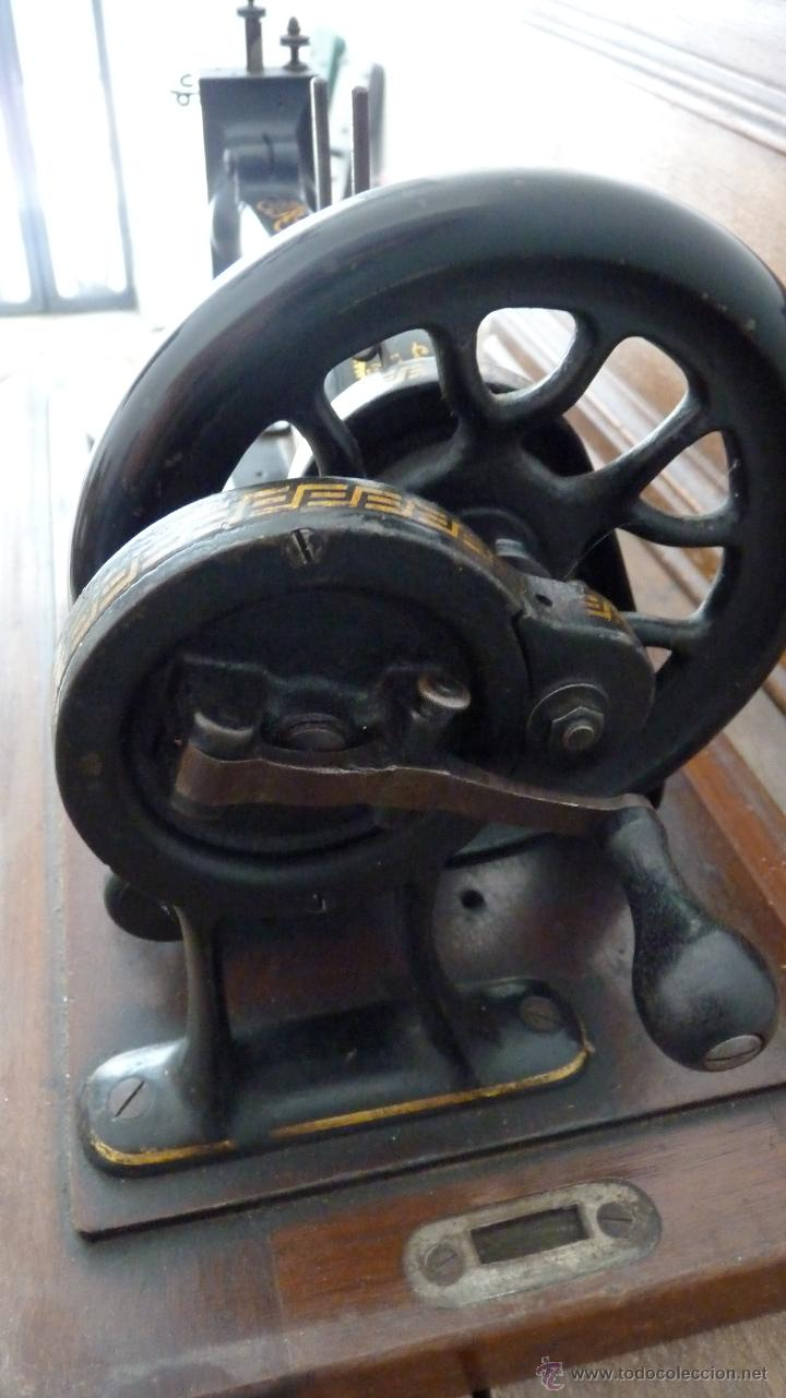 Antigüedades: MÁQUINA DE COSER JONES MACHINE.COMPLETA.EN MUY BUEN ESTADO - Foto 11 - 52763531