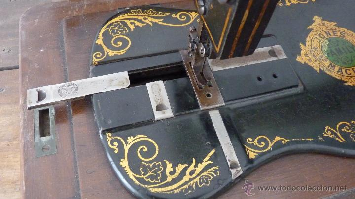 Antigüedades: MÁQUINA DE COSER JONES MACHINE.COMPLETA.EN MUY BUEN ESTADO - Foto 12 - 52763531