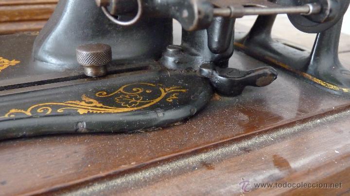 Antigüedades: MÁQUINA DE COSER JONES MACHINE.COMPLETA.EN MUY BUEN ESTADO - Foto 13 - 52763531
