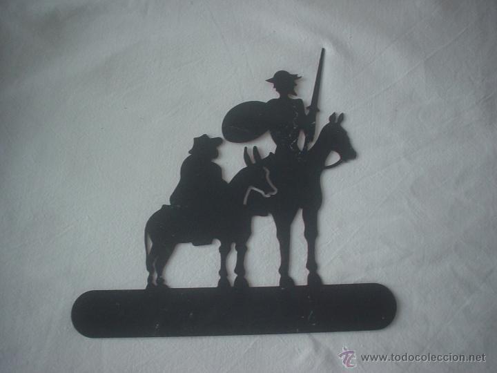 Antigüedades: PLANCHA D. QUIJOTE Y SANCHO - Foto 2 - 52904484