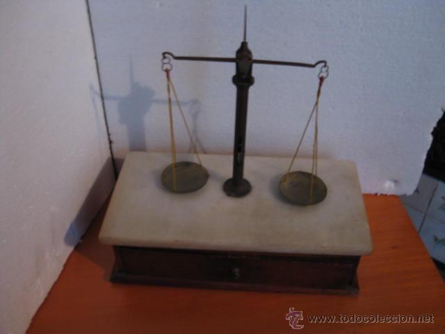 PRECIOSA BALANZA DE JOYERIA O FARMACIA SIGLO XIX (Antigüedades - Técnicas - Medidas de Peso - Balanzas Antiguas)