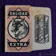 Antigüedades: FUNDA DE HOJA DE CUCHILLA DE AFEITAR ANTIGUA - EL LOBO. CALIDAD EXTRA. Lote 52924627