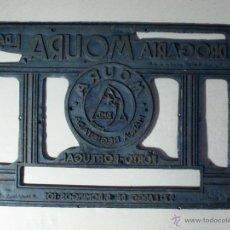 Antigüedades: PLANCHA PLACA IMPRENTA ANTIGUA METAL . Lote 52935324
