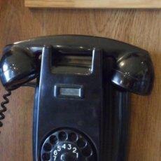 Teléfonos: TELÉFONO DE PARED - ANTIGUO - ORIGINAL - NEGRO. Lote 52945083