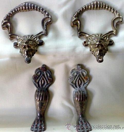 Antigüedades: HERRAJES ANTIGUOS PARA MUEBLE. - Foto 10 - 31230269