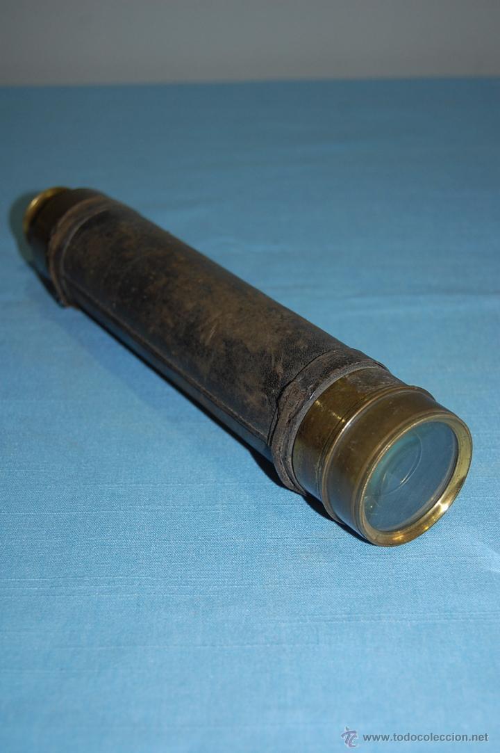 PRECIOSO CATALEJO SIGLO XIX (Antigüedades - Técnicas - Instrumentos Ópticos - Catalejos Antiguos)