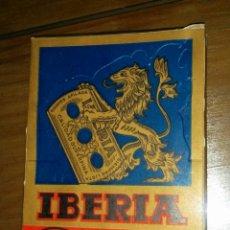 Antigüedades: CAJITA QUE CONTIENE 100 HOJILLAS DE AFEITAR DE LA MARCA IBERIA, SERIE CEFIRO.. Lote 53052470