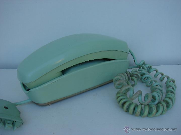 Teléfonos: ANTIGUO TELEFONO GONDOLA. AÑOS 70. COLOR VERDE OLIVA - Foto 2 - 53053041