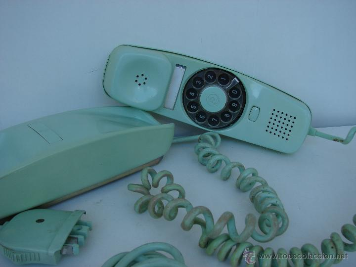 Teléfonos: ANTIGUO TELEFONO GONDOLA. AÑOS 70. COLOR VERDE OLIVA - Foto 3 - 53053041