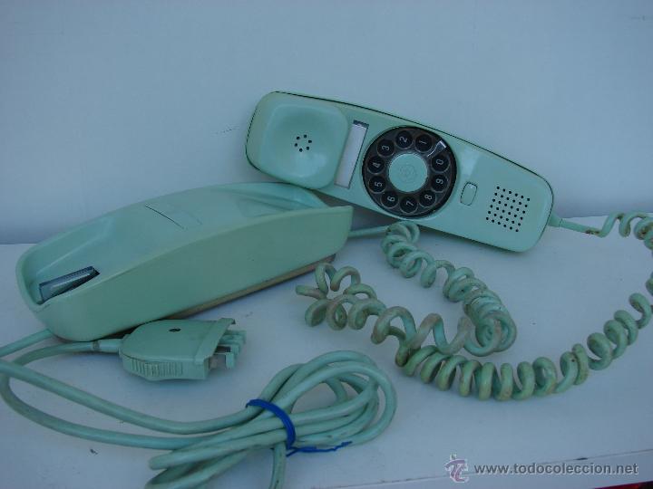 Teléfonos: ANTIGUO TELEFONO GONDOLA. AÑOS 70. COLOR VERDE OLIVA - Foto 4 - 53053041