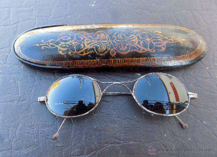 Antigüedades: antiguas gafas de sol, con preciosa funda - Foto 5 - 53060729