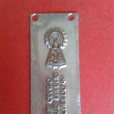 Antigüedades: CLICHE DE IMPRENTA. RECUERDO DE STA. EULALIA DEL CAMPO. TERUEL 8 X 3 CM.. Lote 53077344