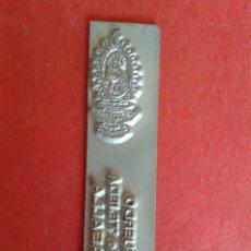 Antigüedades: CLICHE DE IMPRENTA. REC. DE LA VIRGEN DE TEJEDA. CUENCA. 1,5 X 6 CM.. Lote 53077905