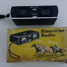 Antigüedades: ANTIGUO BINOCULAR CON RADIO - CAJA ORIGINAL - 1975 . Lote 53084523