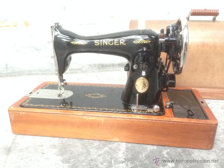 Antigua y preciosa maquina de coser singer - el - Vendido