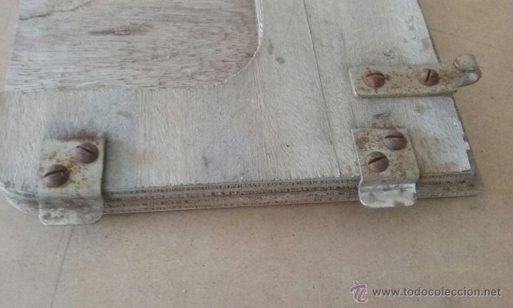 Antigüedades: todos los herrajes necesarios y tapaderas para esconder la maquina de coser - Foto 3 - 53103117