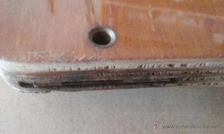 Antigüedades: todos los herrajes necesarios y tapaderas para esconder la maquina de coser - Foto 7 - 53103117