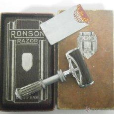 Oggetti Antichi: MAQUINILLA DE AFEITAR RONSON SAFETY RAZOR SHEFFIELD INGLATERRA DE 1931 CON AUTOAFILADO. Lote 53124745