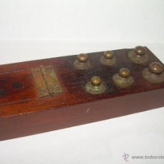 Antigüedades: ANTIGUO JUEGO DE PESAS PARA BALANZAS...COMPLETO.. Lote 53156665