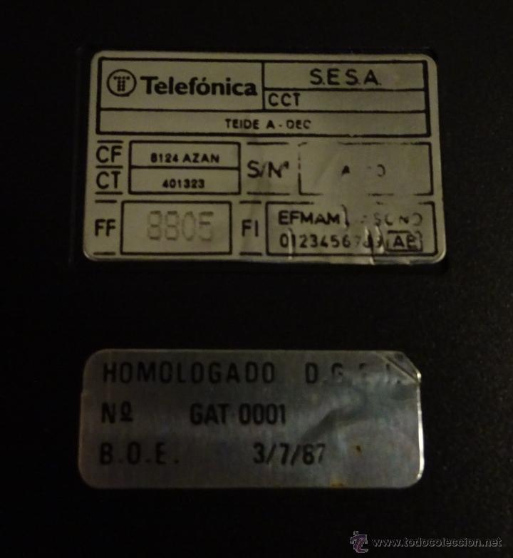 Teléfonos: TELÉFONO MODELO TEIDE. HOMOLOGACIÓN DE 1987. SELECTOR DE VOLUMEN DEL TIMBRE TIPO RUEDA-ENGRANAJE - Foto 2 - 26651898