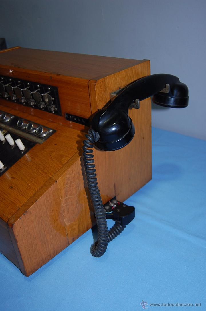 Teléfonos: PRECIOSA CENTRALITA EN MADERA AURICULAR Y DIAL REVERSIBLE - Foto 3 - 53214791