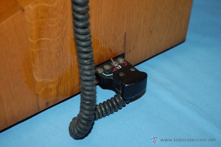 Teléfonos: PRECIOSA CENTRALITA EN MADERA AURICULAR Y DIAL REVERSIBLE - Foto 4 - 53214791