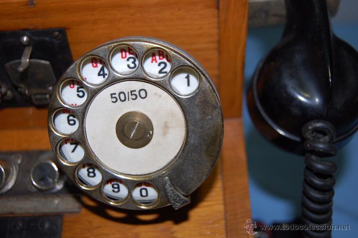 Teléfonos: PRECIOSA CENTRALITA EN MADERA AURICULAR Y DIAL REVERSIBLE - Foto 8 - 53214791