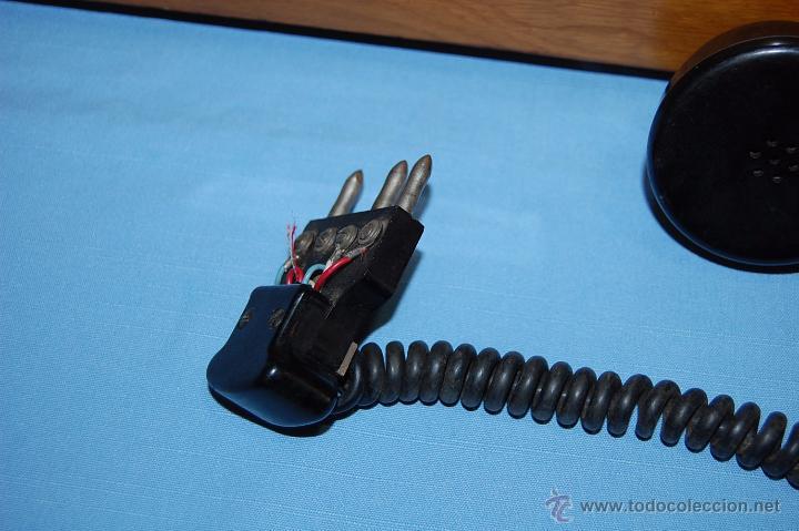 Teléfonos: PRECIOSA CENTRALITA EN MADERA AURICULAR Y DIAL REVERSIBLE - Foto 9 - 53214791