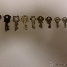Antigüedades: LOTE DE LLAVES PLANAS. Lote 53242392