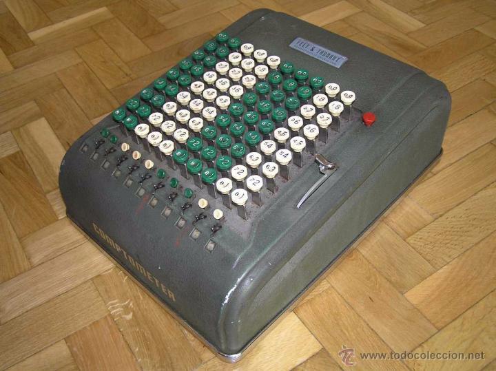 ANTIGUA CALCULADORA COMPTOMETER FELT & TARRANT MANUFACTURING CO. CHIGAGO. U.S.A. DE LOS AÑOS 40 (Antigüedades - Técnicas - Aparatos de Cálculo - Calculadoras Antiguas)