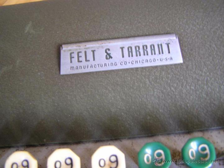 Antigüedades: ANTIGUA CALCULADORA COMPTOMETER FELT & TARRANT MANUFACTURING CO. CHIGAGO. U.S.A. DE LOS AÑOS 40 - Foto 24 - 53245174
