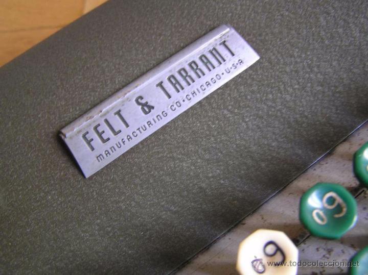 Antigüedades: ANTIGUA CALCULADORA COMPTOMETER FELT & TARRANT MANUFACTURING CO. CHIGAGO. U.S.A. DE LOS AÑOS 40 - Foto 25 - 53245174