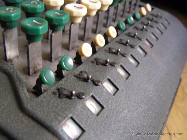 Antigüedades: ANTIGUA CALCULADORA COMPTOMETER FELT & TARRANT MANUFACTURING CO. CHIGAGO. U.S.A. DE LOS AÑOS 40 - Foto 56 - 53245174