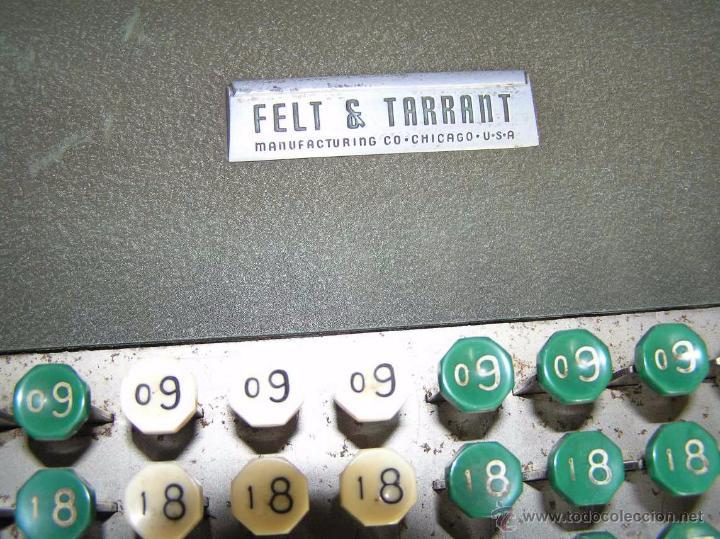 Antigüedades: ANTIGUA CALCULADORA COMPTOMETER FELT & TARRANT MANUFACTURING CO. CHIGAGO. U.S.A. DE LOS AÑOS 40 - Foto 70 - 53245174